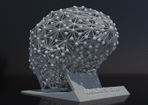 3d modeled brain render