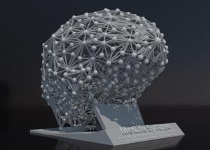 3d modeled brain render