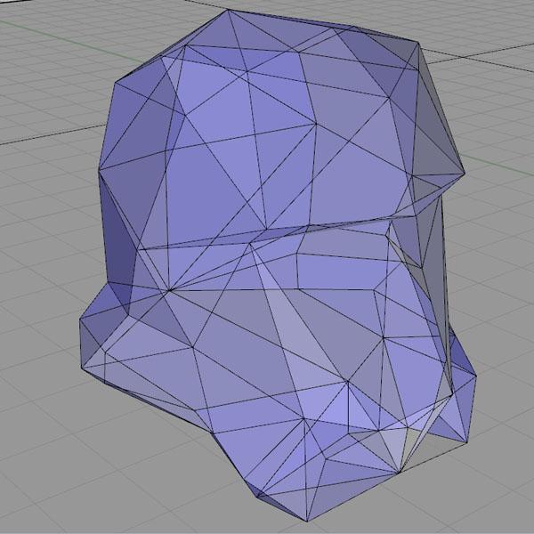 Polygon mesh of a storm trooper